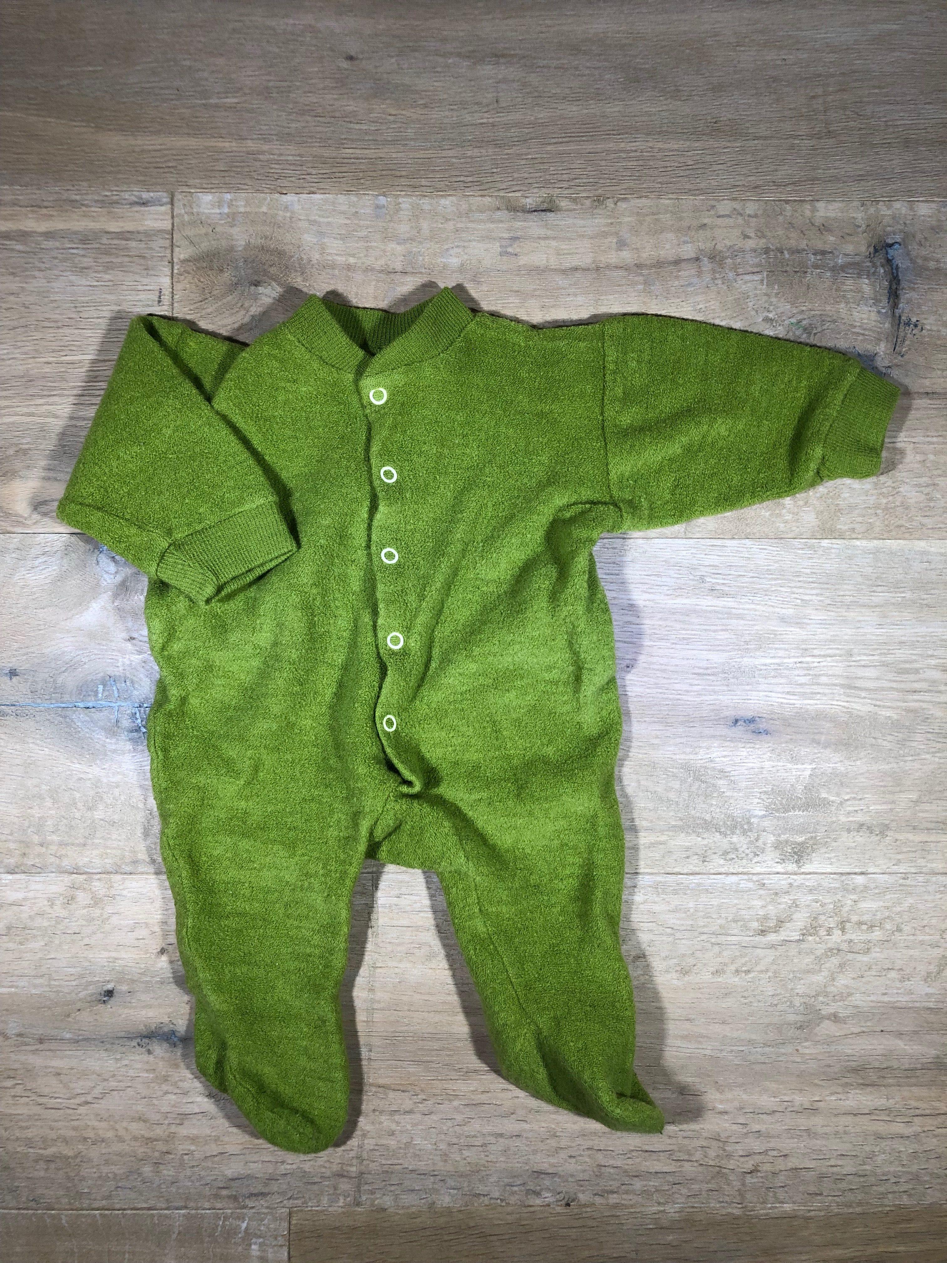 100% authentic 2a2d2 52e4a Wollfrottee-Anzug mit Füßchen von Cosilana, Gr. 56/62