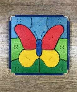 Holz-Puzzle Schmetterling