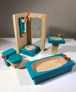 Puppenhausmöbel von PlanToys (Badezimmer)