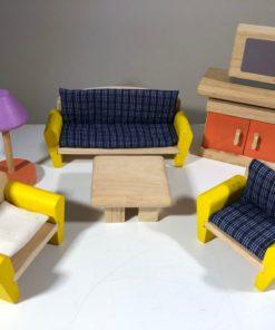 Puppenhausmöbel von PlanToys (Wohnzimmer)