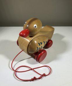 Nachzieh-Ente aus Holz