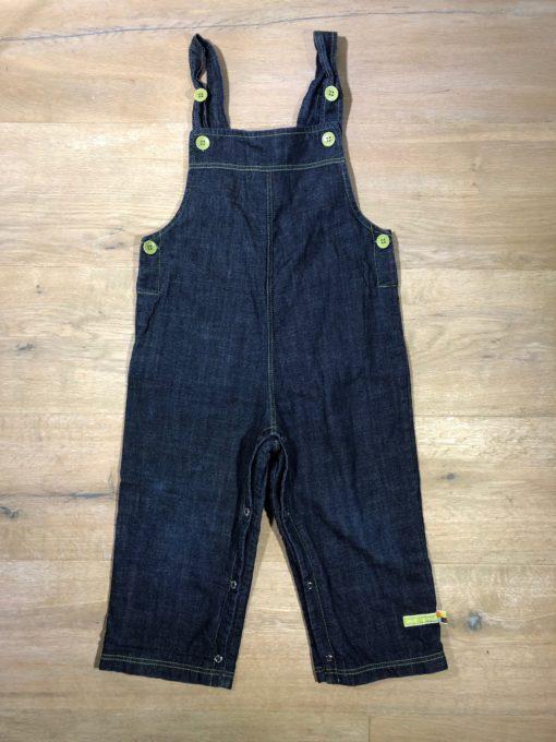 Jeans-Latzhose von loud+proud, Gr. 98/104