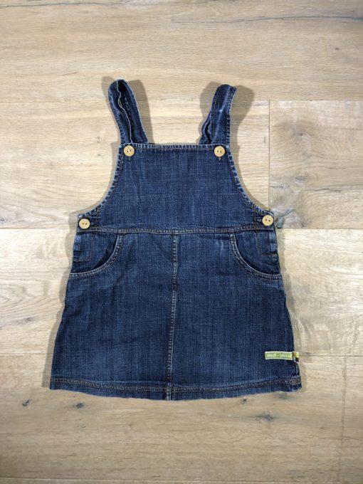 Jeans-Latzkleid von loud+proud, Gr. 74/80