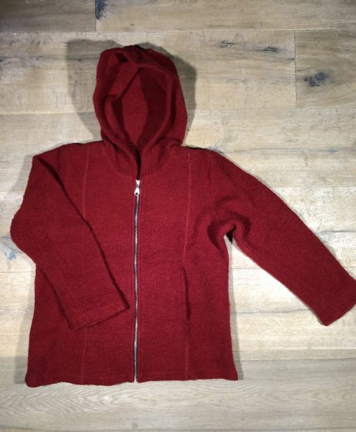 Wollfleece-Jacke mit Baumwolle von minibär, Gr. 134/140