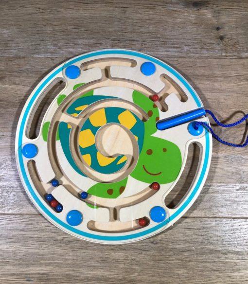 Magnet-Spiel Labyrinth aus Holz/Plexiglas