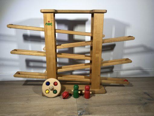 Kugelbahn aus Holz von nic
