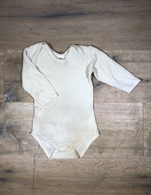 Wolle/Seide-Body mit langem Arm von Alana, Gr. 74/80