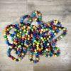 Perlen / Regenbogenkette aus Holzperlen